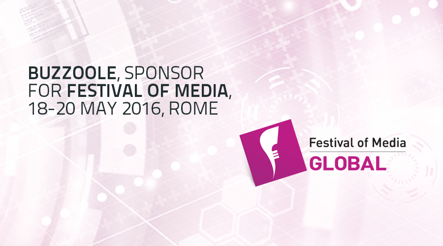 Buzzoole, among the best technology start-ups for Festival of Media, Rome