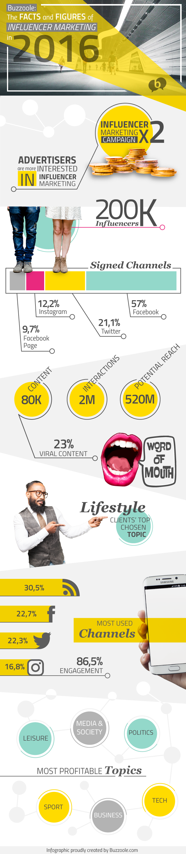Buzzole: 2016 fact and figures infographic