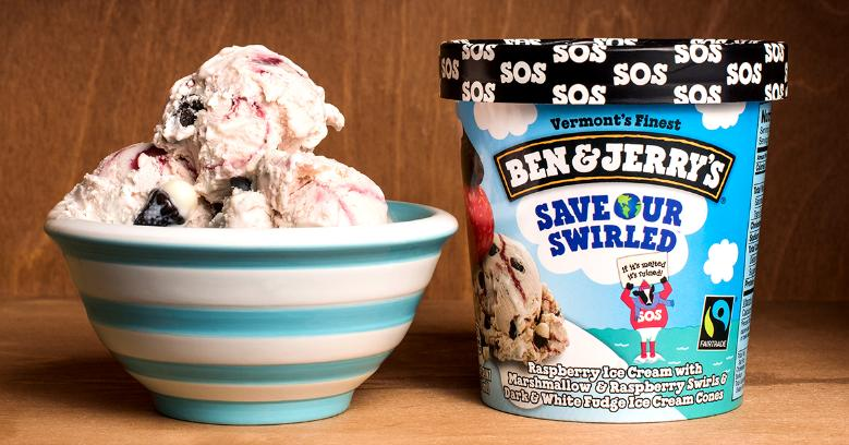 "Ben & Jerry's campaugn ""save our swirled"""