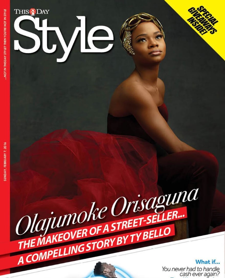 Olajumoke on a magazine cover