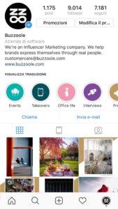 Instagram story in evidenza