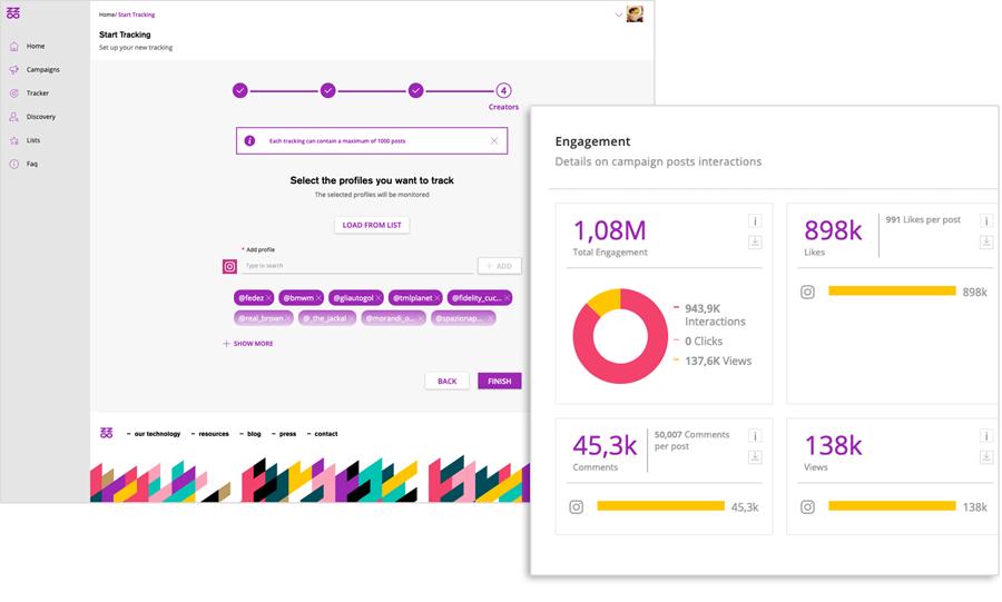 tracciamento di una campagna con Buzzoole Tracker