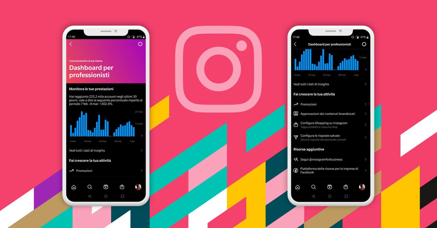 Guida alla nuova Dashboard per professionisti di Instagram