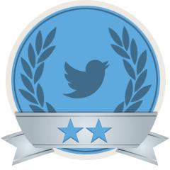 Un esempio di Social Badges.